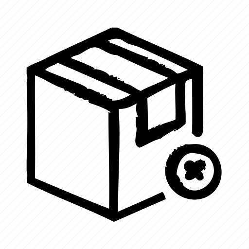 commerce, delete, e, package, shipping, shopping icon