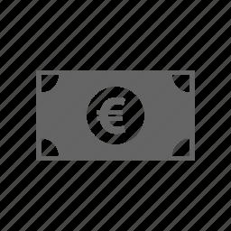 bill, cash, currency, euro, finance, marketing, money icon