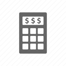 banking, budget, calculator, currency, finance, money, payment icon