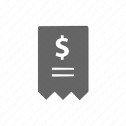 bill, ecommerce, invoice, money, receipt, shop, shopping icon