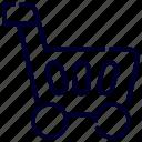 basket, bukeicon, ecommerce, internet, market, shopping, trolly icon