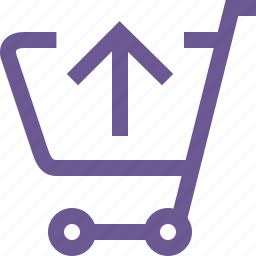 cart, move, up icon