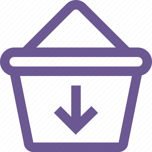 cart, down, download icon