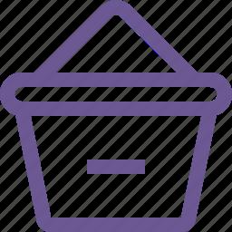 cart, minus, remove icon
