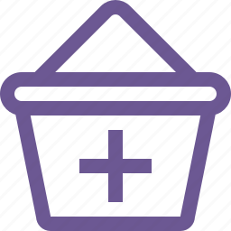 add, cart, plus icon
