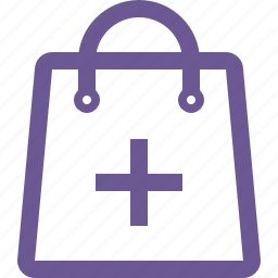 add, cart, plus, shopping bag icon