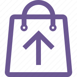 cart, move, shopping bag, up icon