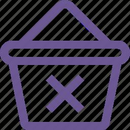 cart, delete, remove icon