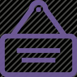 door, notice, table icon