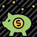 bank, cash, economic, finance, financial, money, piggy icon