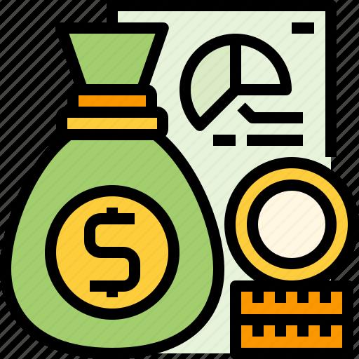 bag, budget, business, economic, finance, financial, money icon
