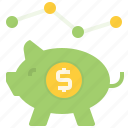bank, cash, economic, finance, financial, money, piggy icon
