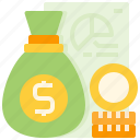 bag, budget, business, economic, finance, financial, money icon