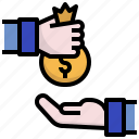 borrow, business, finances, invest, money icon
