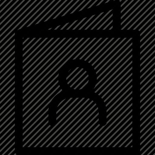 account, avatar, card, person, personal, profile, user icon