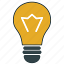 bulb, lamp, light, torch icon