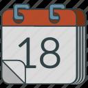 calendar, calender, timetable icon