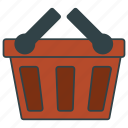 basket, cart, empty, frail, shopping icon