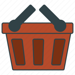 basket, cart, empty, frail, shopping icon