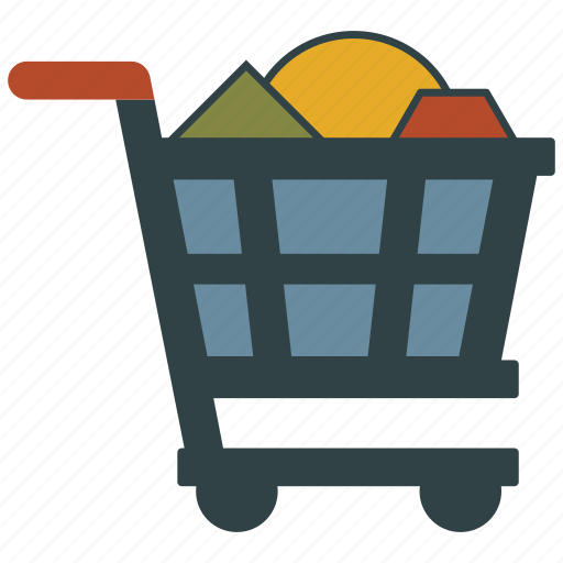 basket, cart, full, shopping icon