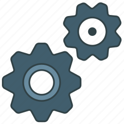 cogs, gear, gears icon