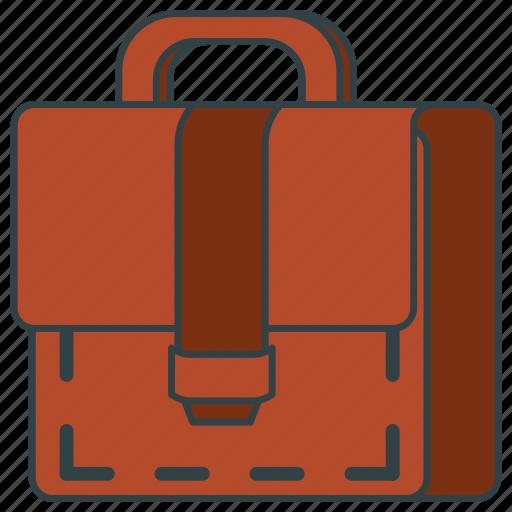 bag, briefcase, handbag, leather icon