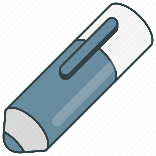 blue, marking, pen icon