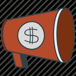 loudhailer, megaphone icon