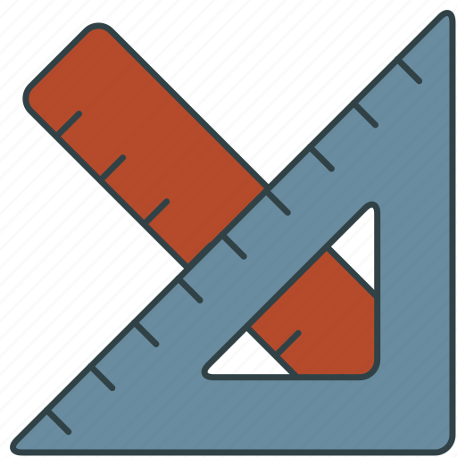 ruler, square icon