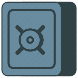 deposit box, safe, safety, strongbox icon