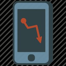 graph, smartphone icon