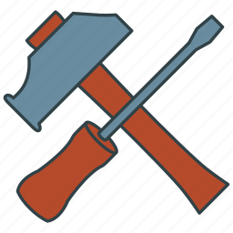 hammer, hardware, tools, wrench icon