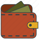 billfold, money, wallet icon