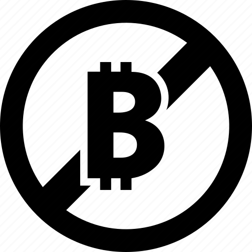 bitcoin, currency, ecommerce, financial, forbidden, money, prohibited icon