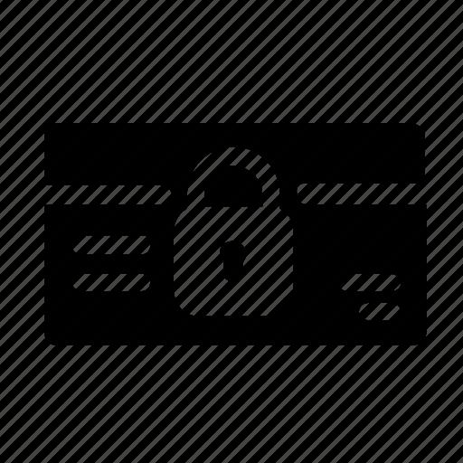 card, credit, pin icon