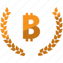 bitcoin, currency, laurel, lauren, money icon