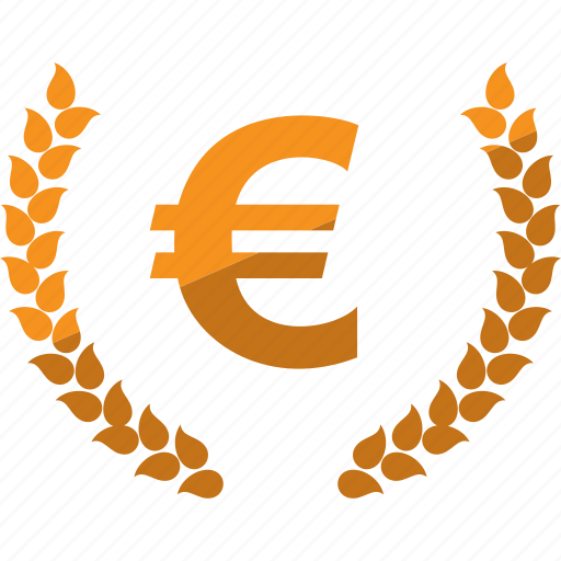 currency, euro, laurel, lauren, money icon