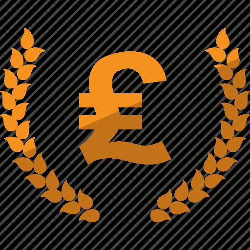 currency, laurel, lauren, money, pound icon