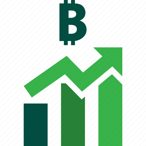 ascending, bars, bitcoin, graph, stocks, trading, up icon