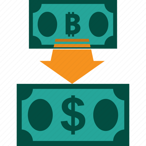 bitcoin to dollar, conversion, currency, exchange, money, rate icon