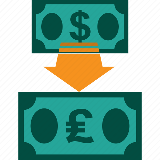 conversion, currency, dollar to pound, exchange, money, rate icon
