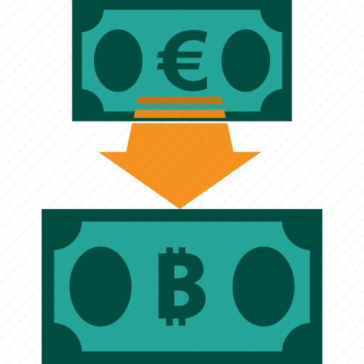 conversion, currency, euro to bitcoin, exchange, money, rate icon