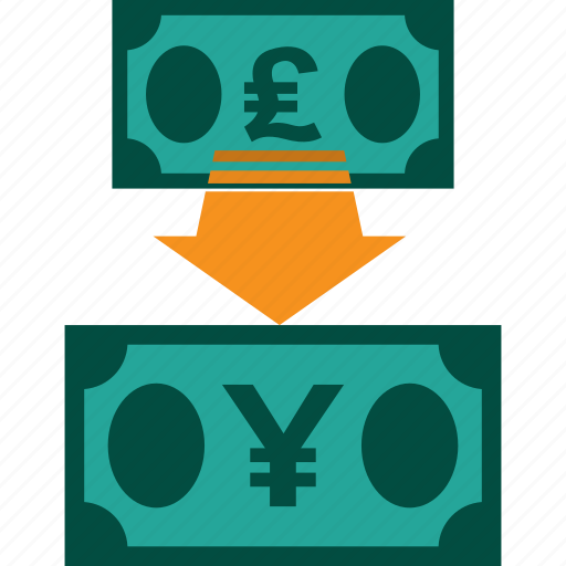 conversion, currency, exchange, money, pound to yen, rate icon