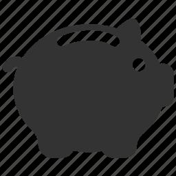 collect, financial, guardar, pig, piggy bank, save, savings, savings account icon