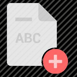 add, create, doc, edit, file, plus, text icon