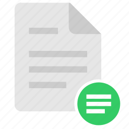align, doc, document, file, format, left icon
