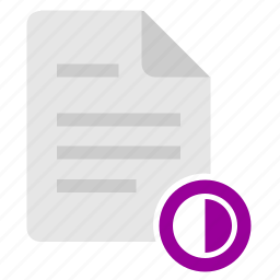 color, contrast, doc, document, file, settings icon