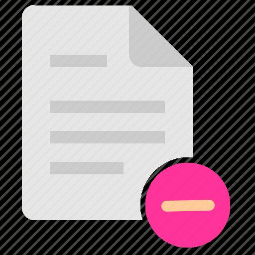 cut, data, doc, document, erase, file, info icon
