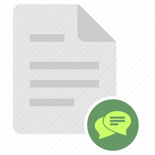 dialog, doc, document, file, literature, text icon
