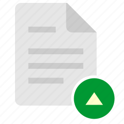 doc, document, file, navigation, top, up icon